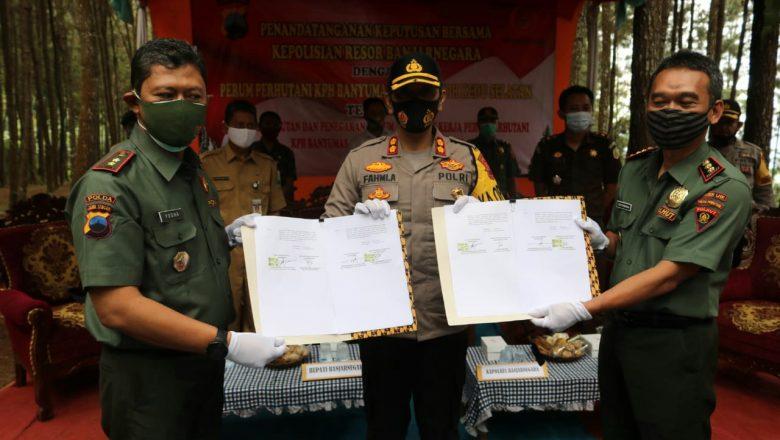 Polres Banjarnegara Bersama Perhutani Sepakat Jaga Kelestarian Hutan