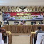 Sosialisasi Dipa, Anggaran Polres Banjarnegara Alami Penurunan Pada Tahun 2021