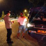 Polsek Banjarnegara Gelar Blue Light Patrol Sosialisasi PPKM Mikro