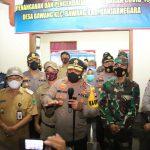 Kapolda Jateng Cek Posko PPKM Mikro Desa Bawang Banjarnegara