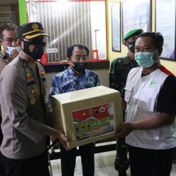 Kapolres Banjarnegara Bersama Forkopimda Keliling Tinjau Pos Lebaran 2021