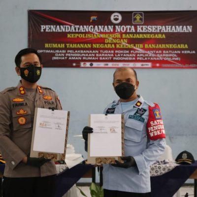 Polres Banjarnegara Bersama Rumah Tahanan Negara Kelas IIB Banjarnegara Jalin Kerjasama Sarsipol