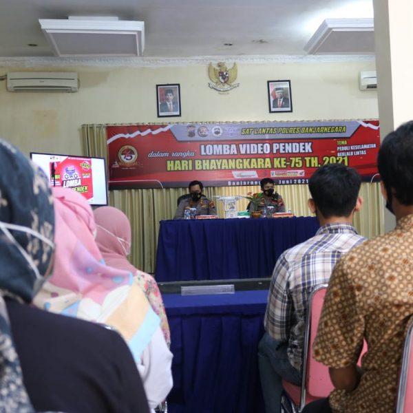 Meriahkan Hari Bhayangkara Ke-75, Satlantas Polres Banjarnegara Gelar Lomba Video Pendek